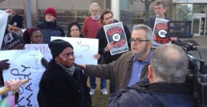 Protest in front of the Development company trying to throw out Mary Sanders
